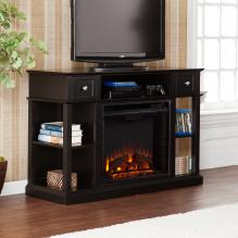Dayton Media Fireplace - Black