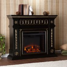Donovan Electric Fireplace - Black