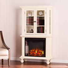 Townsend Electric Fireplace Curio - Antique White