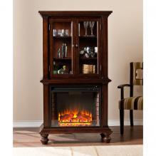 Townsend Fireplace Curio - Espresso