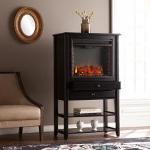 Vickery Corner Convertible Electric Fireplace Storage Tower