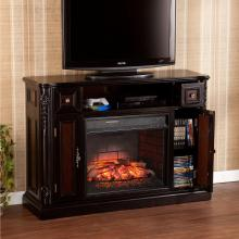 Marianna Infrared Media Fireplace - Ebony W/ Antique Red