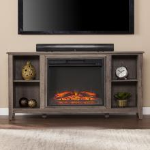 Parkdale Electric Fireplace TV Stand - Mocha Gray