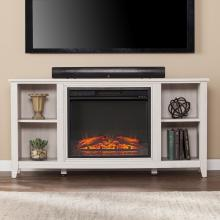 Parkdale Electric Fireplace TV Stand - White