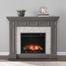 Dakesbury Faux Stone Electric Fireplace