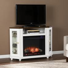 Dilvon Electric Media Fireplace w/ Storage