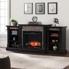 Gallatin Bookcase Electric Fireplace