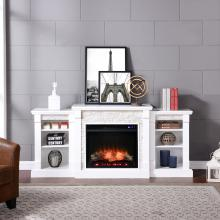 Gallatin Electric Fireplace w/ Bookcases