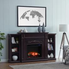 Chantilly Electric Fireplace w/ Bookcases