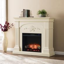 Sicilian Electric Fireplace - Ivory