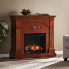 Sicilian Electric Fireplace - Mahogany
