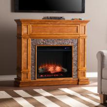 Belleview Electric Fireplace w/ Faux Stone