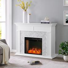 Torlington Tiled Marble Fireplace Mantel w/ Alexa Firebox