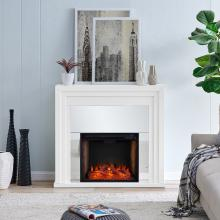 Stadderly Mirrored Fireplace w/ Alexa Firebox
