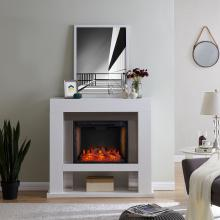 Lirrington Stainless Steel Fireplace w/ Alexa Firebox