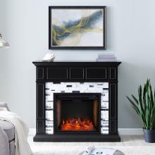 Drovling Marble Fireplace w/ Smart Firebox