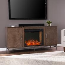 Dibbonly Alexa Smart Fireplace w/ Media Storage