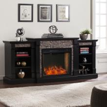 Gallatin Alexa-Enabled Smart Bookcase Fireplace