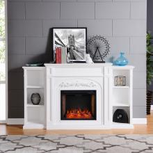 Chantilly Alexa-Enabled Smart w/ Fireplace Bookcases