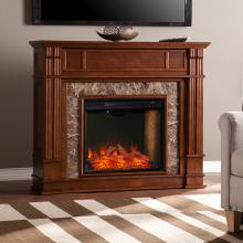 Highgate Electric Alexa Smart Media Fireplace - Whiskey Maple