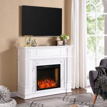 Highgate Electric Alexa Smart Media Fireplace - White
