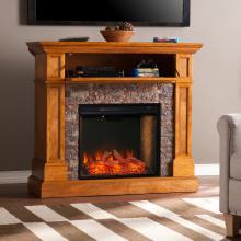 Rosedale Convertible Smart Fireplace w/ Faux Stone
