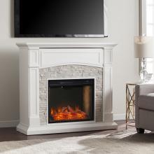 Seneca Smart Media Fireplace - White