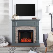 Seneca Smart Media Fireplace - Gray