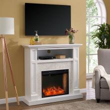 Nobleman Smart Media Fireplace w/ Tile Surround