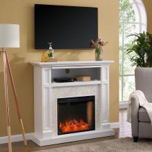 Nobleman Smart Media Fireplace w/ Tile Surround