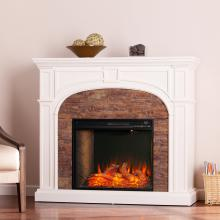 Tanaya Alexa Smart Fireplace w/ Faux Stone