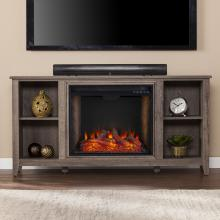 Parkdale Smart Fireplace w/ Storage - Mocha Gray
