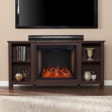 Parkdale Smart Fireplace w/ Storage - Espresso