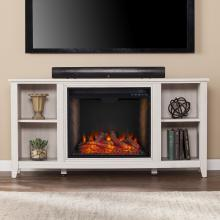 Parkdale Smart Fireplace w/ Storage - White