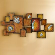 LEAVES/ABSTRACT PANEL WALL ART
