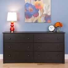Riverdale 6-Drawer Chest, Washed Black