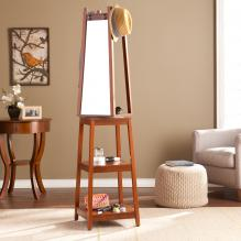 Adams Swivel Mirror Hall Tree - Espresso