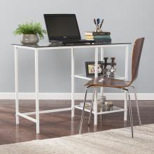 Layton Metal/Glass Student Desk - White