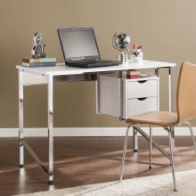 Waypoint Writing Desk - White/Chrome
