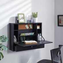 Wall Mount Laptop Desk - Universal Style - Black