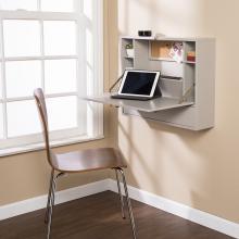 Wall Mount Laptop Desk - Universal Style- Gray