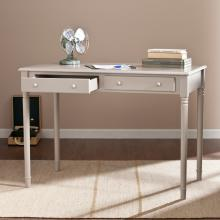 Janice 2-Drawer Writing Desk - Gray