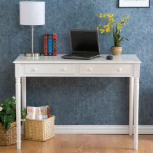 Writing 2-Drawer Desk - Crisp White