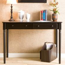 Writing 2-Drawer Desk - Satin Black