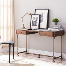 Edison Industrial 2-Drawer Writing Desk