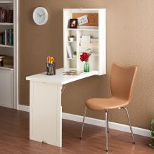 Fold-Out Convertible Desk - Antique White