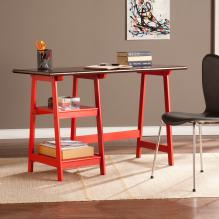 Langston Desk - Red/Espresso