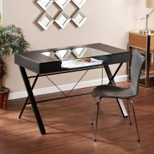 Rexton Desk - Black w/ Glass