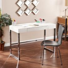 VIVIENNE REPTILE CONTEMPORARY DESK - CREAM