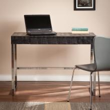 Vivienne Reptile Contemporary Desk - Black
